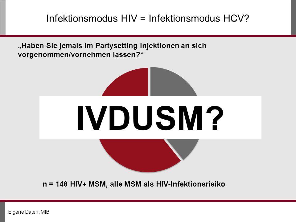 Infektionsmodus HIV = Infektionsmodus HCV.