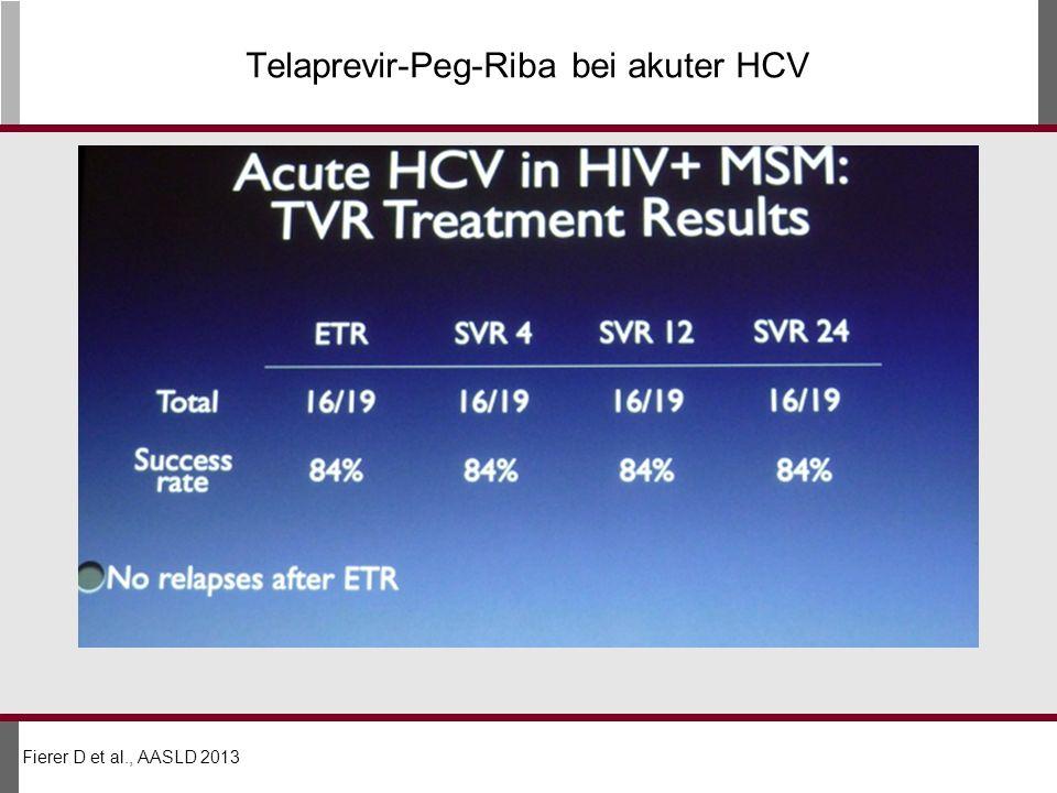 Telaprevir-Peg-Riba bei akuter HCV Fierer D et al., AASLD 2013