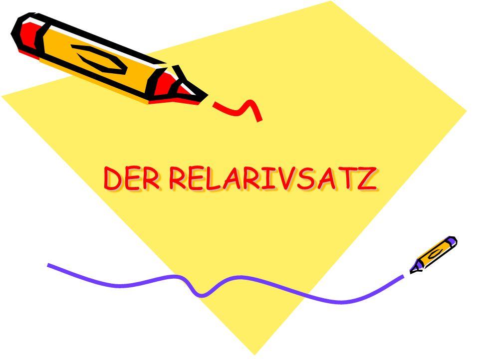 B/ Hauptsatz + integrierter Relativsatz Zwei Hauptsätze: Die Pferde leben im Naturpark.
