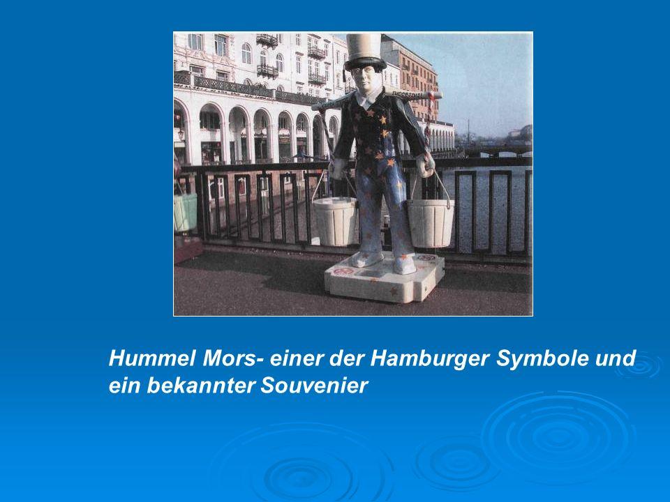 Hummel Mors- einer der Hamburger Symbole und ein bekannter Souvenier