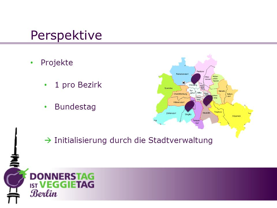 Perspektive Projekte 1 pro Bezirk Bundestag Initialisierung durch die Stadtverwaltung