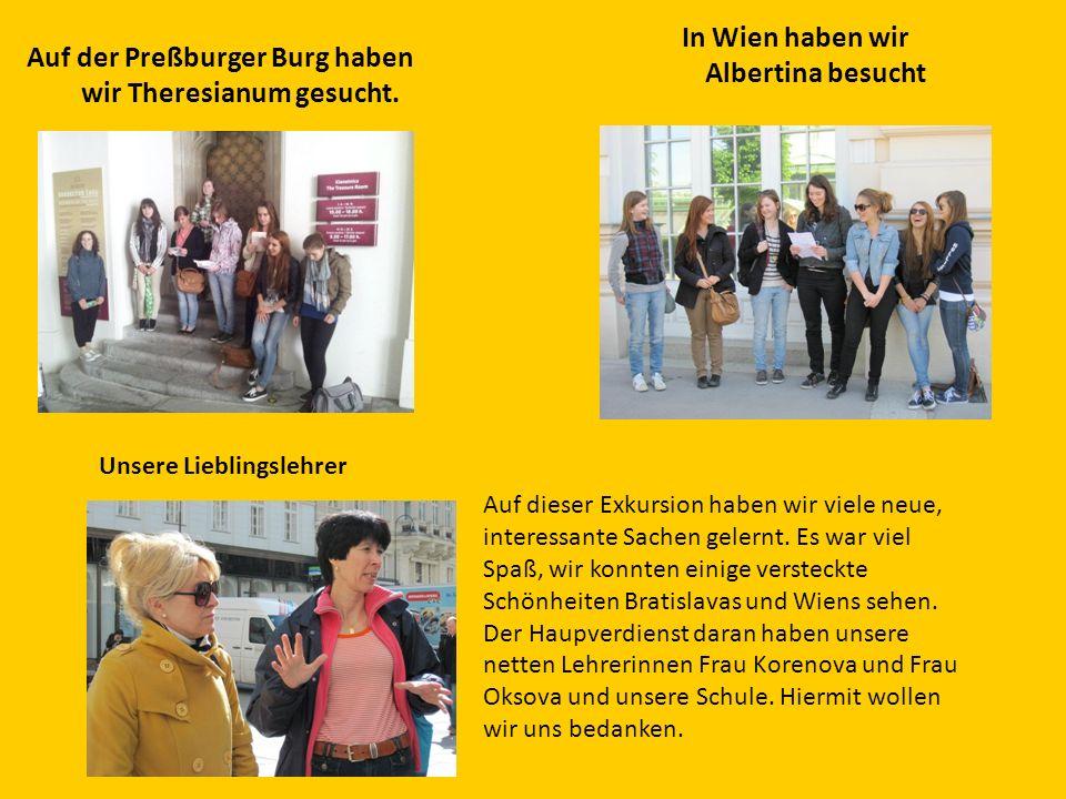 Auf der Preßburger Burg haben wir Theresianum gesucht.