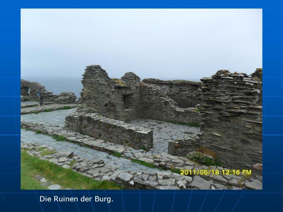Die Ruinen der Burg.