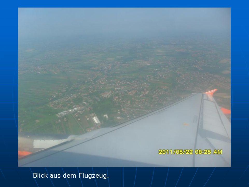 Blick aus dem Flugzeug.