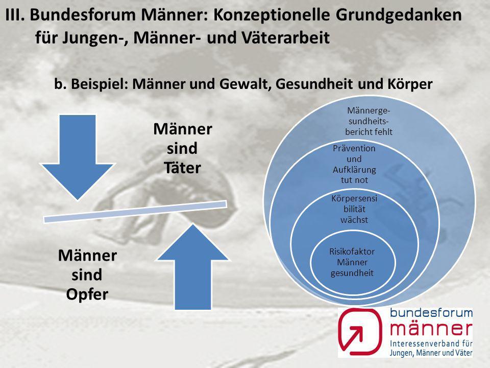 III. Bundesforum Männer: Konzeptionelle Grundgedanken für Jungen-, Männer- und Väterarbeit a.