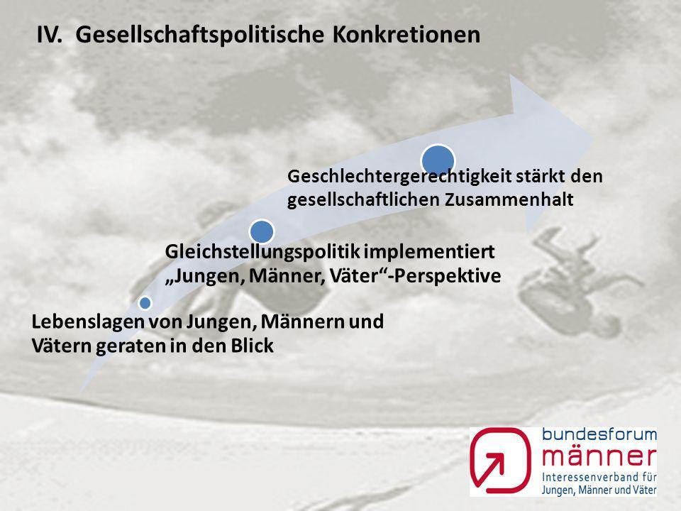 III. Bundesforum Männer: Konzeptionelle Grundgedanken für Jungen-, Männer- und Väterarbeit c.