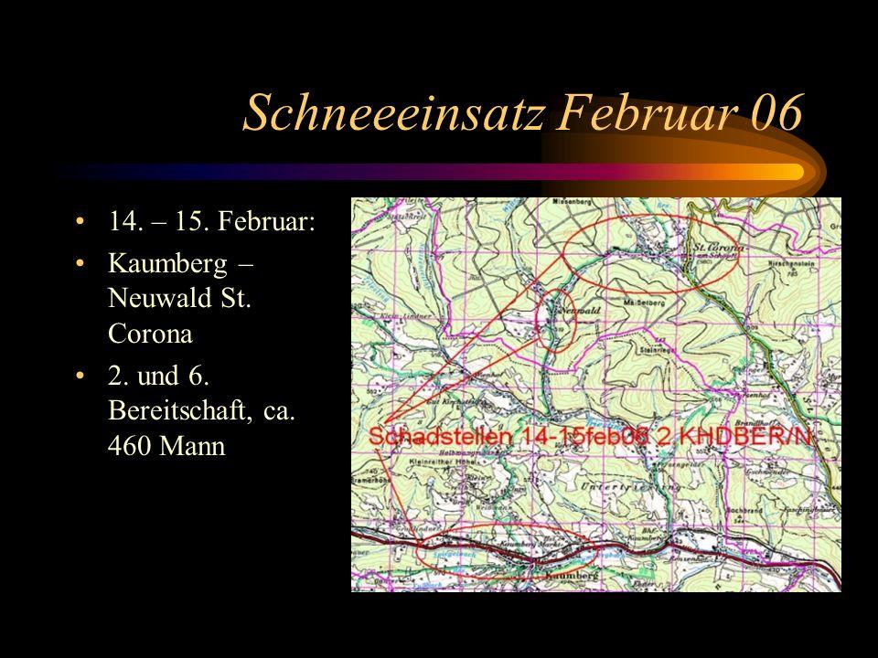 Schneeeinsatz Februar 06 14. – 15. Februar: Kaumberg – Neuwald St.