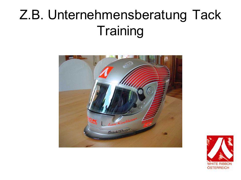 Z.B. Unternehmensberatung Tack Training