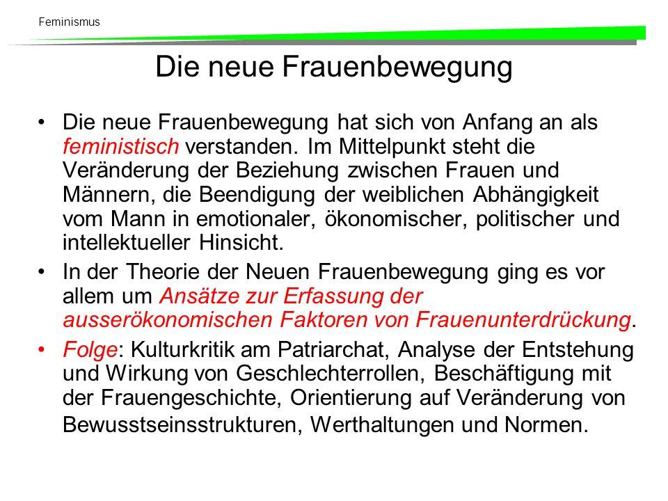 Feminismus Theoretische Hauptströmungen: Politischer Radikalfeminismus.
