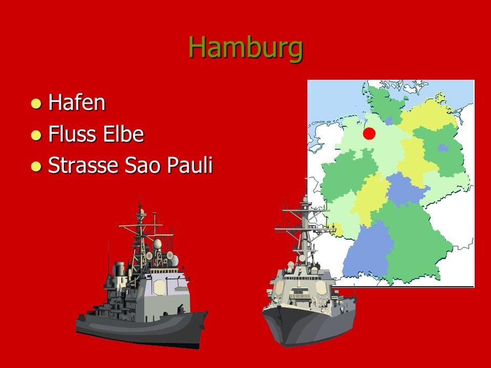 Hamburg Hafen Hafen Fluss Elbe Fluss Elbe Strasse Sao Pauli Strasse Sao Pauli