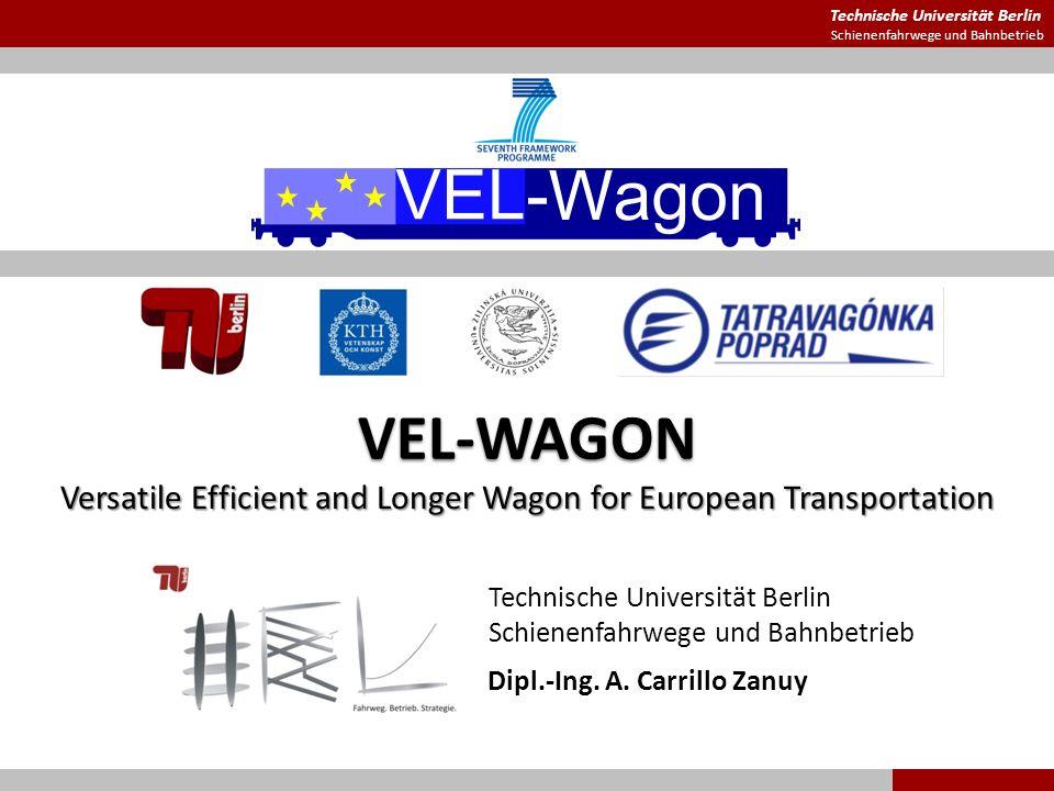 Technische Universität Berlin Schienenfahrwege und Bahnbetrieb VEL-WAGON Versatile Efficient and Longer Wagon for European Transportation Dipl.-Ing. A