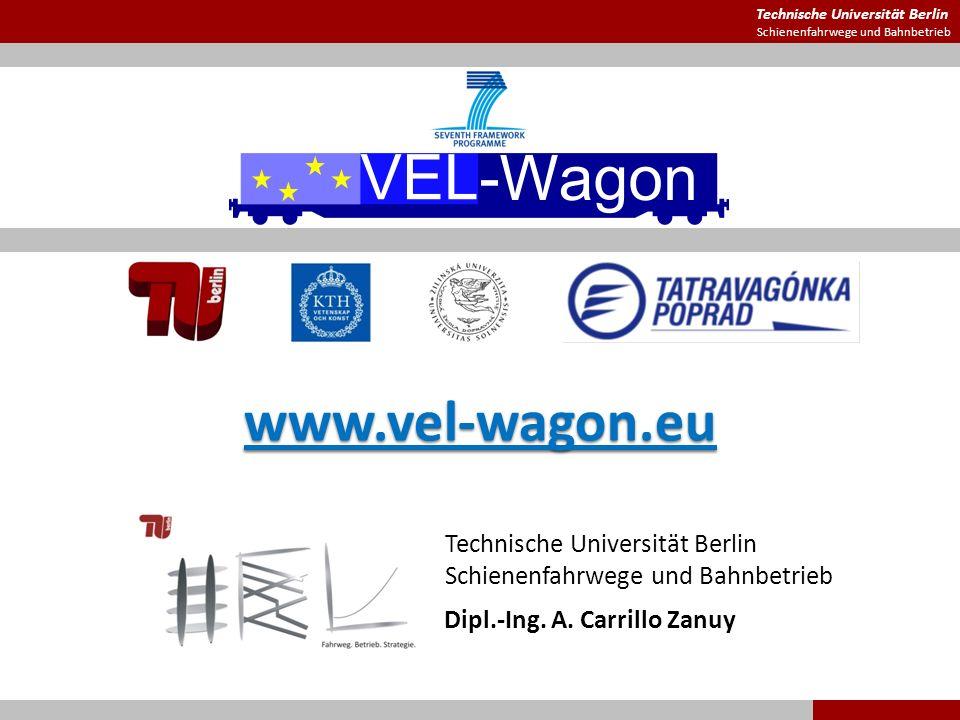 Technische Universität Berlin Schienenfahrwege und Bahnbetrieb www.vel-wagon.eu Dipl.-Ing. A. Carrillo Zanuy