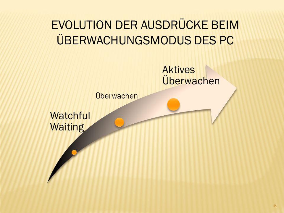 Aktive Überwachung: eine Behandlungsoption, die jetzt wissenschaftlich definiert ist.