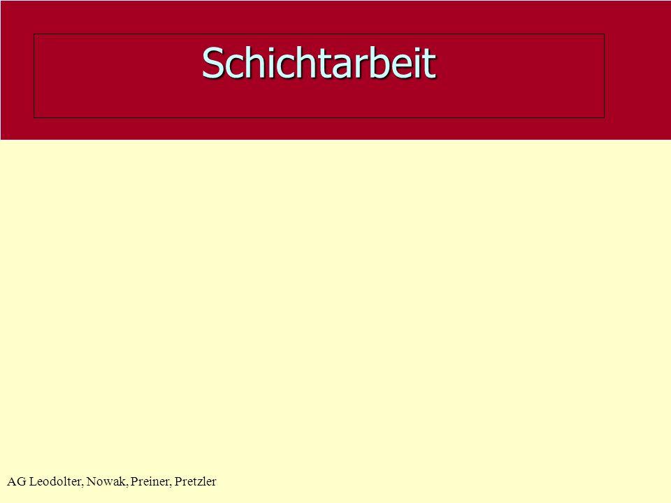 AG Leodolter, Nowak, Preiner, Pretzler Schichtarbeit
