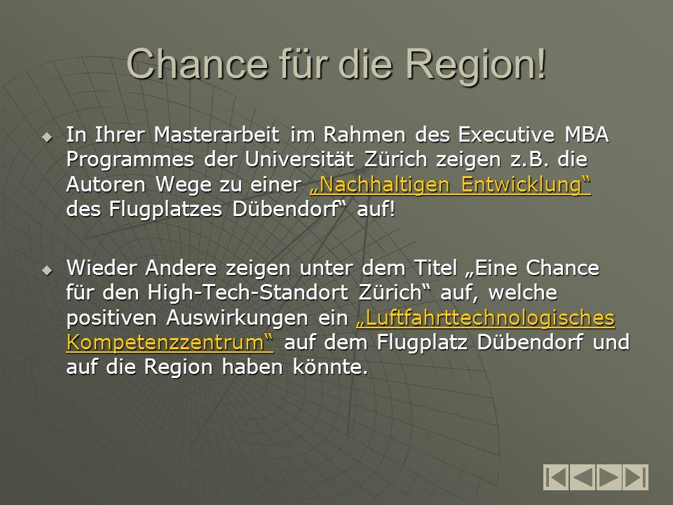 Chance für die Region.
