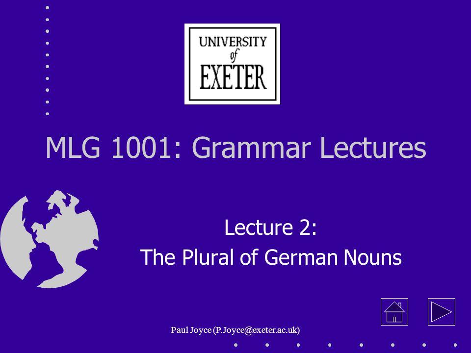 2.21 Fem. Plurals: Quiz Supply the plurals of these feminine nouns!