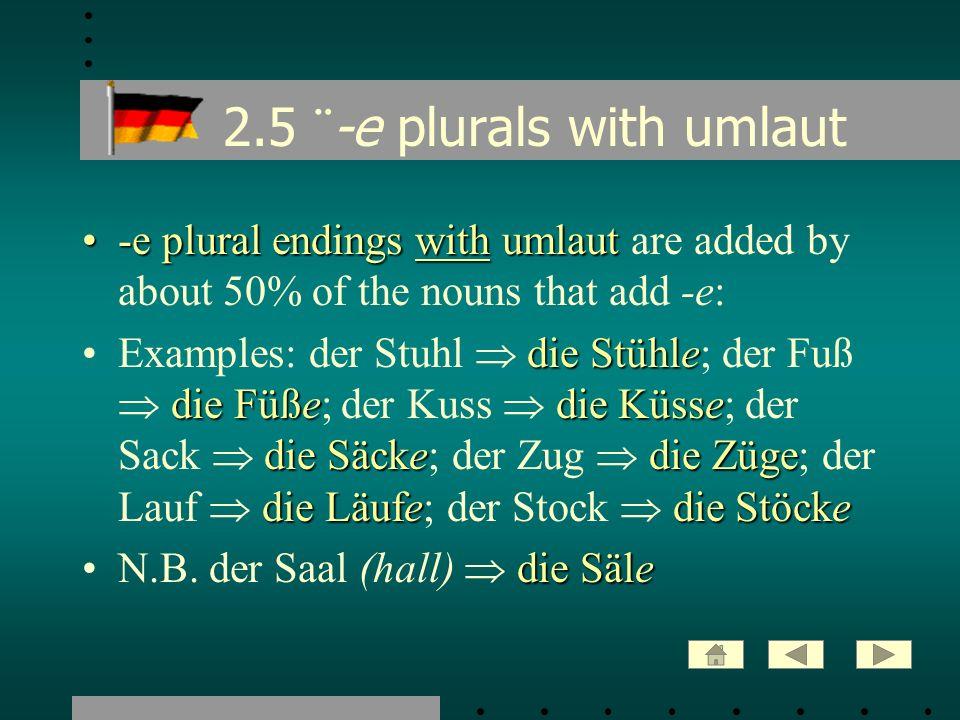 2.16 Feminine plurals: -en -n-enOver 90% of feminine nouns have the plural ending -n or -en.