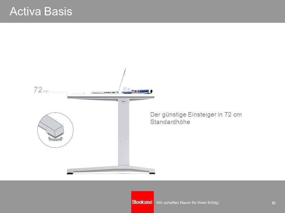 16 einfach perfekt Der günstige Einsteiger in 72 cm Standardhöhe Activa Basis 72 cm
