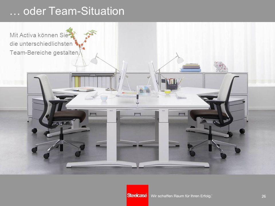 26 … oder Team-Situation Mit Activa können Sie die unterschiedlichsten Team-Bereiche gestalten.