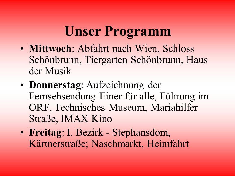 Die 2b in Wien Eine Arbeit der Informatikgruppe der 2b