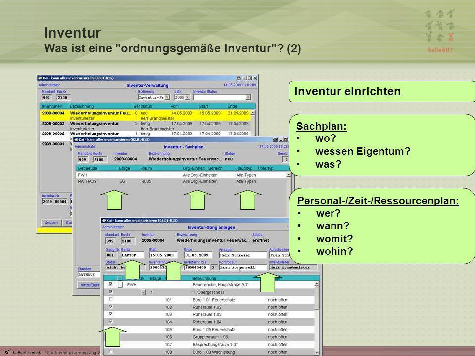hallobtf! gmbh / Kai-Inventarisierungstag 2010 / Seite 13 Inventur Was ist eine