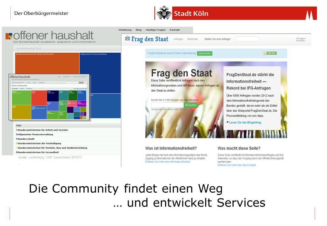 Die Community findet einen Weg … und entwickelt Services