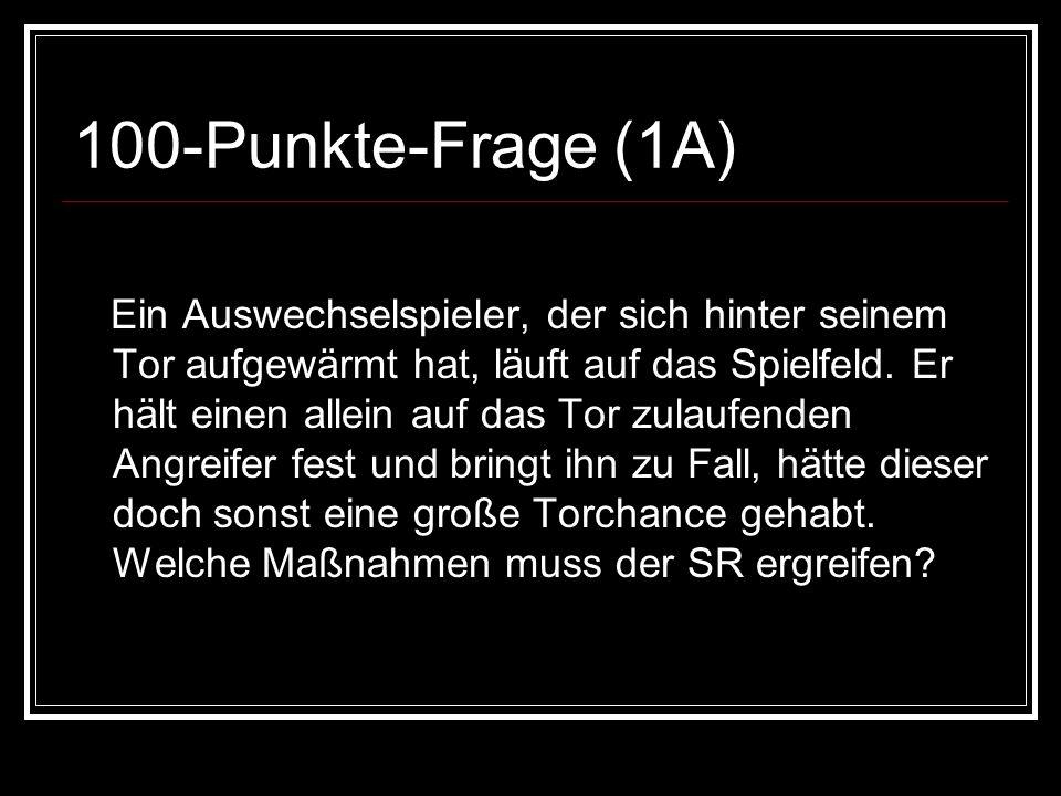 50-Punkte-Antwort (3D) Feldverweis & indirekter Freistoß wo Ball