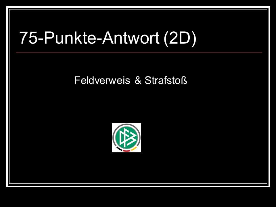 75-Punkte-Antwort (2D) Feldverweis & Strafstoß