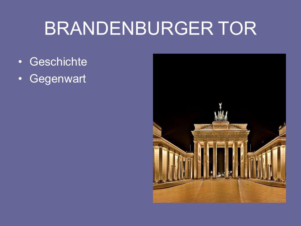 NATIONALSYMBOL Das monumentale Brandenburger Tor kann auf eine rund 200jährige Geschichte zurückblicken.