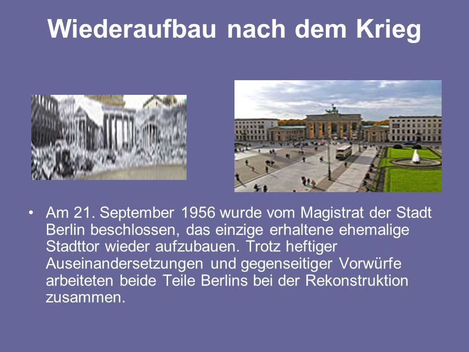 ISOLIRTES DASEIN Fast drei Jahrzehnte sollte nun das Brandenburger Tor ein isoliertes Dasein fristen aber trotzdem im Brennpunkt der Weltöffentlichkeit stehen.