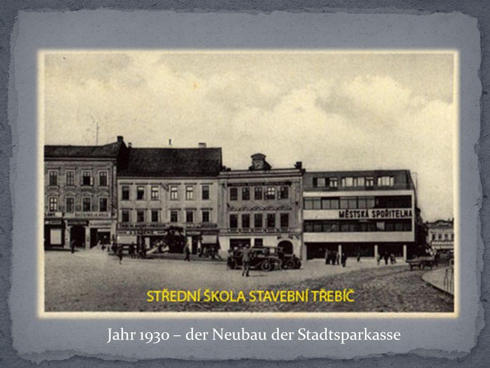 Jahr 1930 – der Neubau der Stadtsparkasse