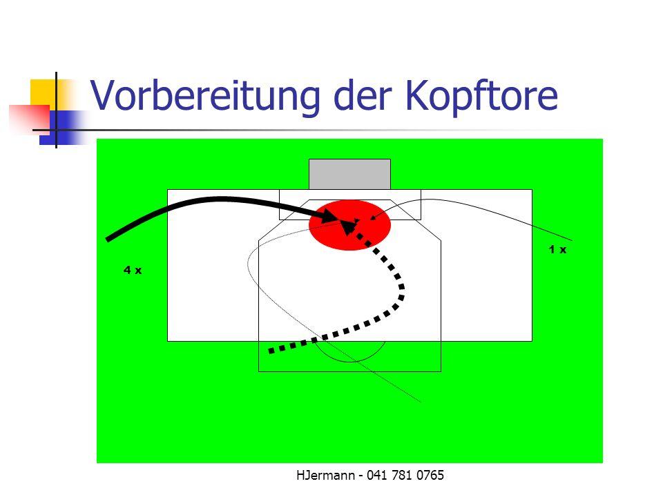 HJermann - 041 781 0765 Vorbereitung der Kopftore 4 x 1 x