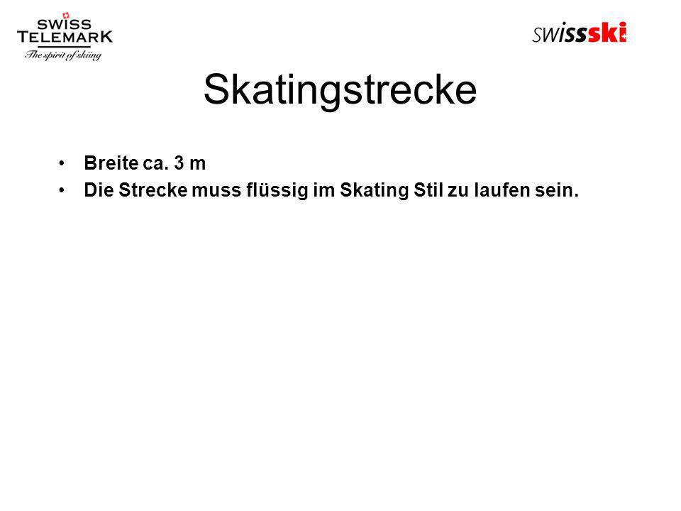 Skatingstrecke Breite ca. 3 m Die Strecke muss flüssig im Skating Stil zu laufen sein.