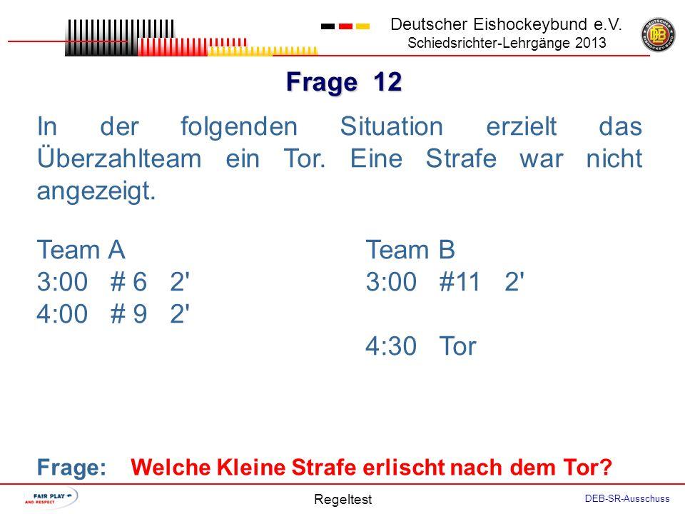 Frage 11 Deutscher Eishockeybund e.V.