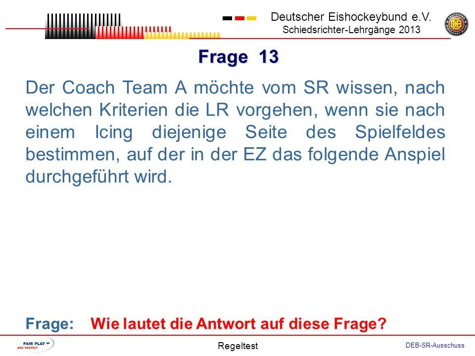 Frage 12 Deutscher Eishockeybund e.V.