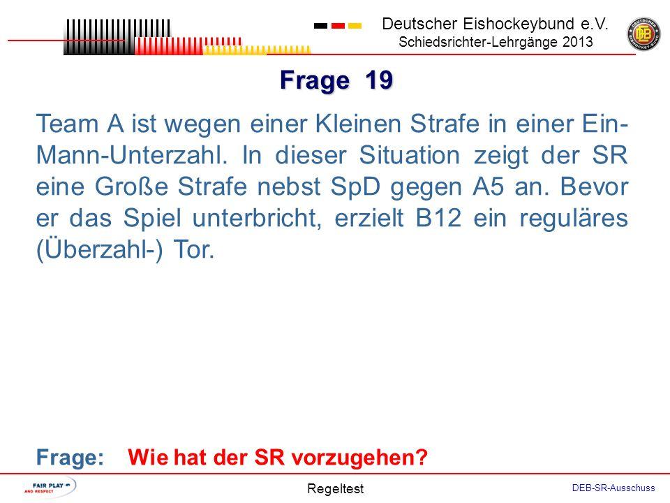 Frage 18 Deutscher Eishockeybund e.V.