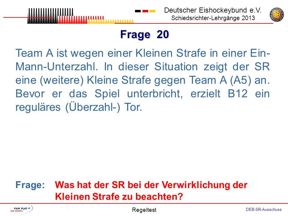 Frage 19 Deutscher Eishockeybund e.V.