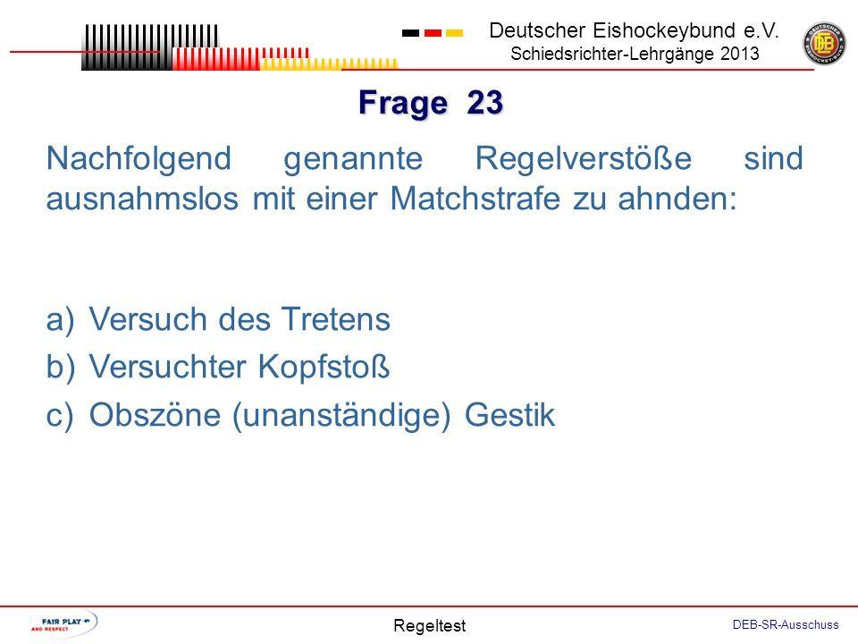 Frage 22 Deutscher Eishockeybund e.V.