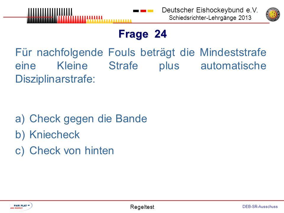 Frage 23 Deutscher Eishockeybund e.V.