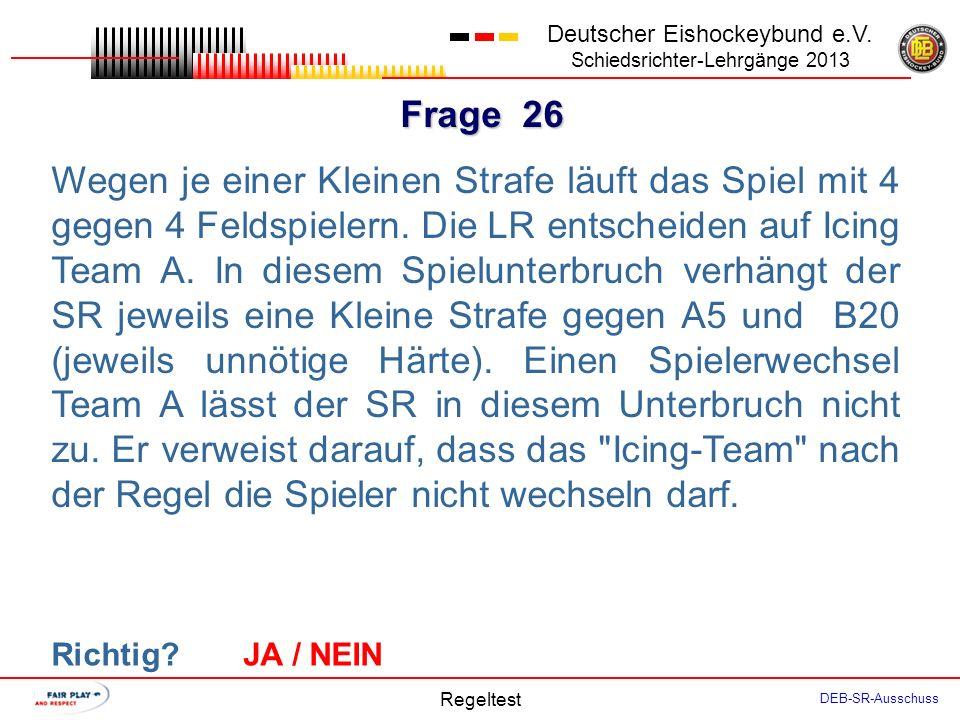 Frage 25 Deutscher Eishockeybund e.V.
