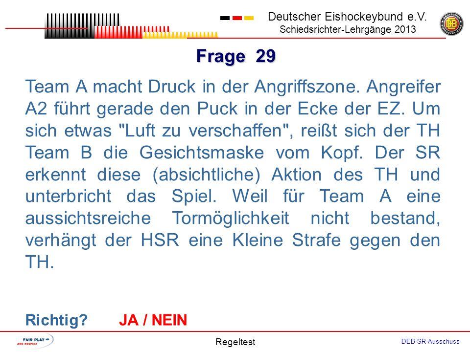 Frage 28 Deutscher Eishockeybund e.V.
