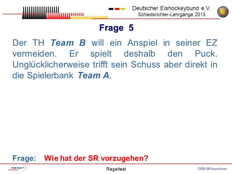 Frage 4 Deutscher Eishockeybund e.V.