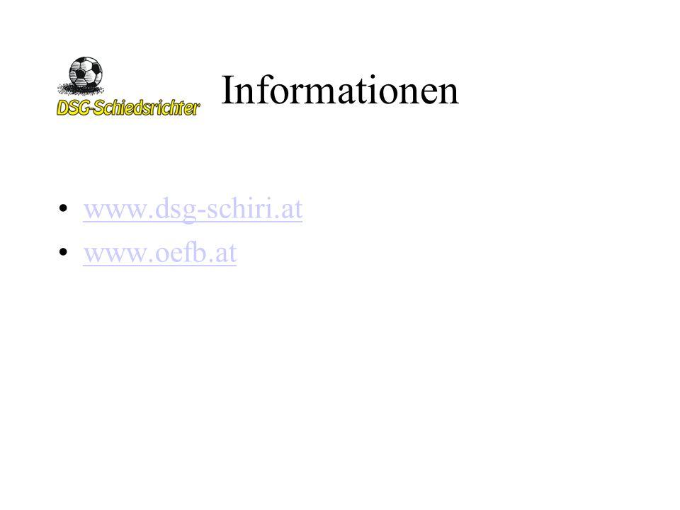 Informationen www.dsg-schiri.at www.oefb.at