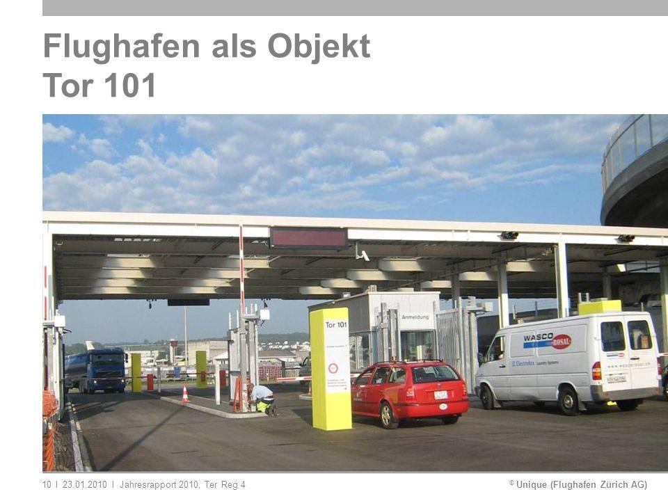 © Unique (Flughafen Zürich AG)ll23.01.2010Jahresrapport 2010, Ter Reg 410 Flughafen als Objekt Tor 101