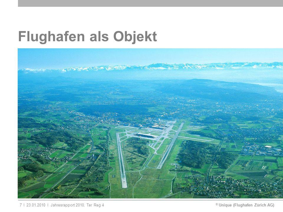 © Unique (Flughafen Zürich AG)ll23.01.2010Jahresrapport 2010, Ter Reg 47 Flughafen als Objekt