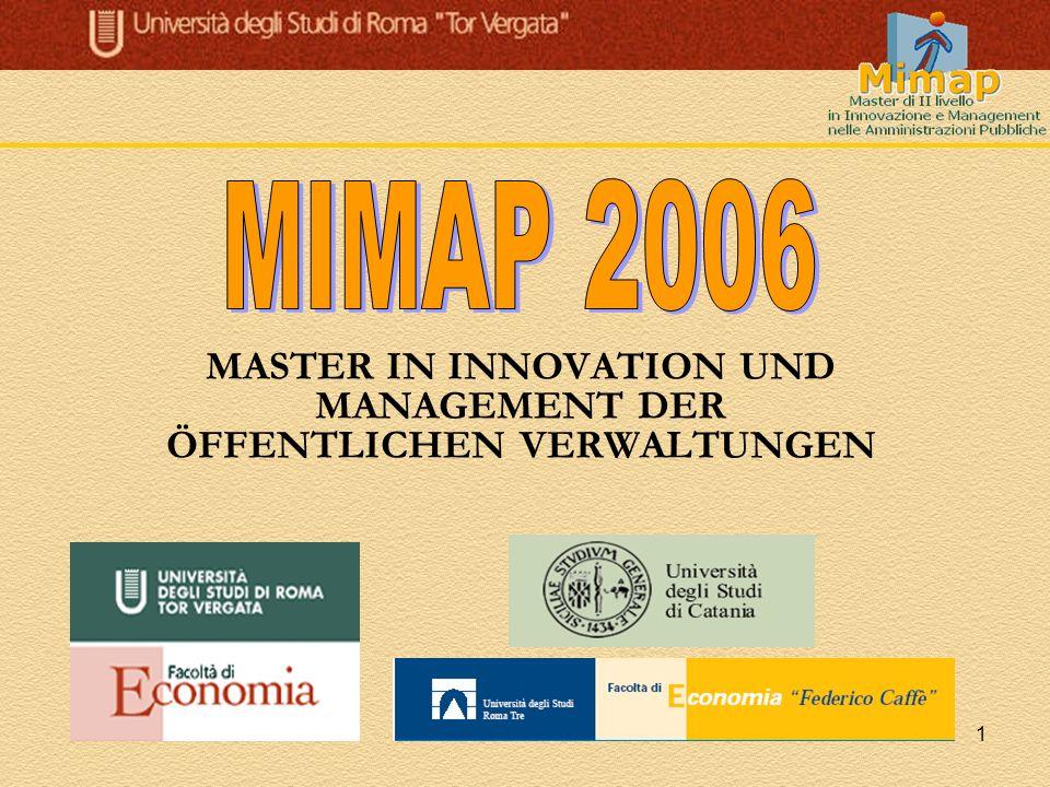 2 Italienische Partner im Netzwerk MIMAP EURAC research Bozen Universität Sannio Universität Macerata SSEF – Hochschule für Wirtschaft und Finanzen LIUC - Universität Carlo Cattaneo Castellanza