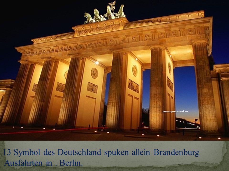 13 Symbol des Deutschland spuken allein Brandenburg Ausfahrten in. Berlin.