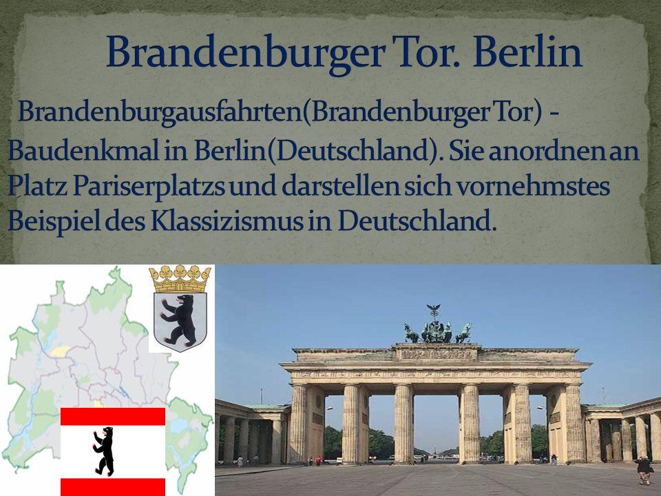 Bemerken ihriges das Zweihunderste Jahrestag, Brandenburgausfahrten spuken berühmtes Symbol des Berlin und Deutschland.