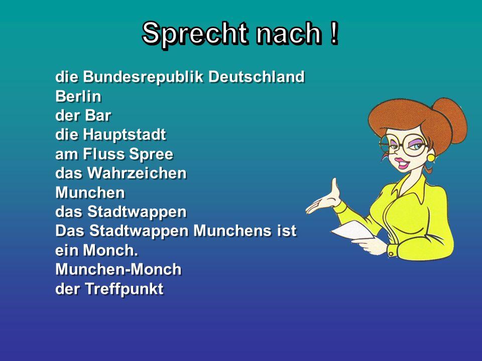 die Bundesrepublik Deutschland Berlin der Bar die Hauptstadt am Fluss Spree das Wahrzeichen Munchen das Stadtwappen Das Stadtwappen Munchens ist ein M