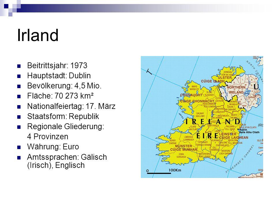 Wusstest du, dass… …Irland erst im Jahr 1948 seine volle Unabhängigkeit von Großbritannien erhielt.